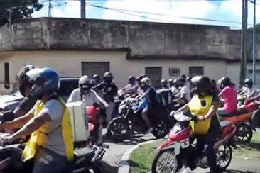 Una caravana de motomandados despidió al hombre que falleció en accidente