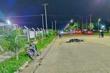 Un joven motociclista fue derivado al Masvernat en grave estado