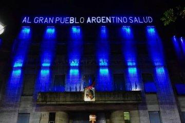 La Municipalidad se iluminó de azul por la concientización sobre el autismo