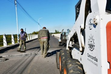 """Confirman que """"en los próximos días"""" se van a reparar """"las barandas del Puente Alvear"""""""