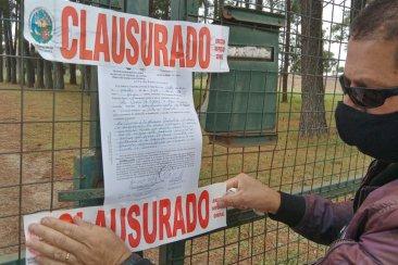 La municipalidad volvió a clausurar un predio dedicado a hacer fiestas